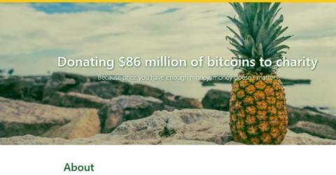 Анонимный биткоин-миллионер занимается благотворительностью в сети