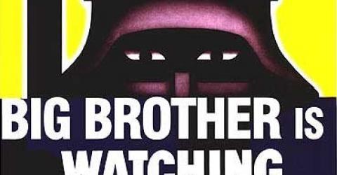 Большой брат следит за тобой! Что бы ты не переставал хавать его дерьмо.