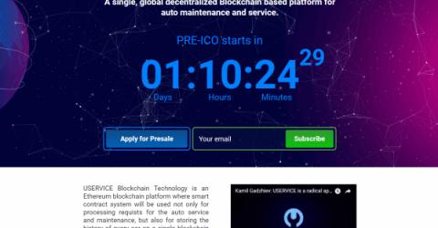Uservice - глобальная децентрализованная блокчейн-платформа для автомобильной индустрии
